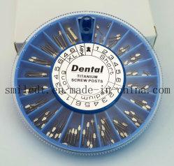 120pcs Vis en titane de postes de soins dentaires de la tête transversale