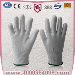 13guage Cut-Resistant Hhpe tricotés 5 de la sécurité des gants de protection du travail (coupe niveau 5)