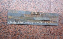 自然で黒く、錆ついた壁のクラッディングのスレートの石(Z-XZ0304P4)
