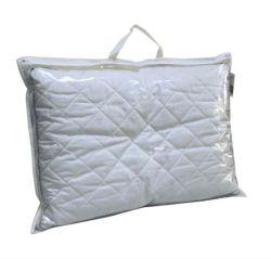 Almohada de PVC transparente con mango de la bolsa de embalaje de ropa de cama de clara