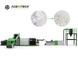 PP/PE/Película/Agrícola Bolsa tejida/botella escamas /los trozos de plástico Pelletizer/Board Cutter