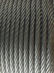 De gegalvaniseerde Kabel van de Draad van het Staal 6X37 voor de Lading van de Haven