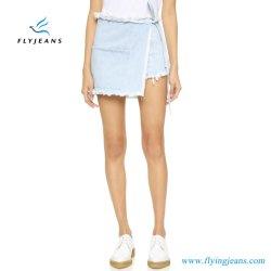Las mujeres Light-Wash moda denim shorts faldas damas