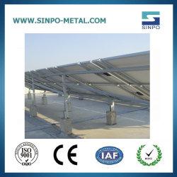 Panneau solaire sur le toit plat d'alimentation du système de montage du châssis en aluminium anodisé panneau solaire Produits Solaires