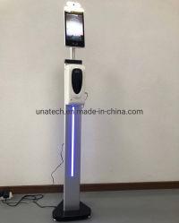 Leitor de participação do higienizador Sinalização Quiosque Detector do Visor de temperatura Facial Clássica Scanner com identificação de rosto