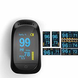Het multifunctionele Uiteinde van de Zuurstof van de Vinger, Sensor van de Zuurstof van de Monitors van de Gezondheid van de Monitor van het Tarief van het Hart van de Monitor van de Verzadiging van de Zuurstof van het Bloed van de Sensor SpO2 de Draagbare voor Volwassenen en Kinderen