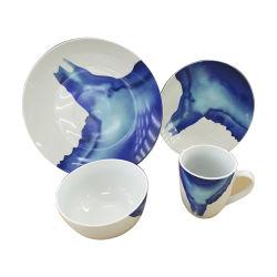 Синий естественное глазурью керамическая посуда, подарочный набор посуды
