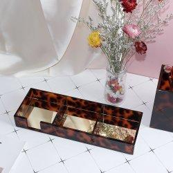 Письменный стол Данные органайзера заметок держатель бумаги для сшивания кольцами защелки держателя Tortoiseshell мини-акриловый коробка для хранения отсортированы лоток с наружного зеркала заднего вида