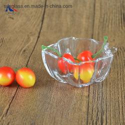 Tazón de vidrio pequeña forma de la hoja para las nueces y frutas secas