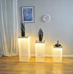 Muebles modernos de almacenamiento Onenoe Rectángulo Organizador de verificación el polvo, pantalla LED de malla metálica en caso de soporte 3 en 1 CONJUNTOS COMPLETOS Producto Showroom Caso