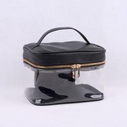PU+ Clear PVC Ladies' Cosmetic Bag/Case, 메이크업 파우치