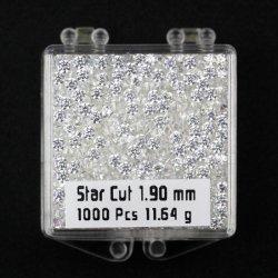 Étoile de coupe cubique zirconium 8 coeurs et 8 flèches CZ