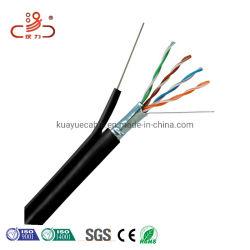 Антенный кабель локальной сети FTP Cat5e+M со стальной проволоки Messenger для использования вне помещений