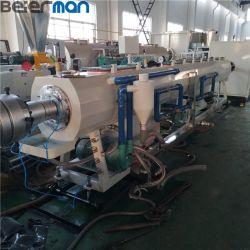 Beierman UPVC CPVC PVC 20-110mm 물 공급 하수 오물 관 밀어남 선 Sjsz65/132 쌍둥이 나사 압출기 기계 PLC 통제