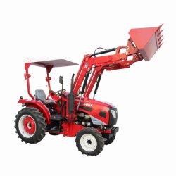 Concessionnaire Jinma 204 254 300 354 404 454 504 4RM Cabine du tracteur de ferme avec auvent et les prix de la fourche à palettes de la rétropelle chargeuse