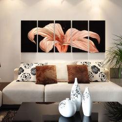 Met de hand gemaakte Olieverfschilderij van de Kunst van de Muur van het Metaal van de Bloem van de lelie 3D