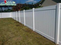 6X8 blanche bon marché de la vie privée de clôtures de jardin en vinyle PVC treillis de panneaux de portes de 8FT Outdoor