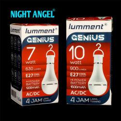 Linterna de larga duración de la noche E27 de emergencia recargable Lámpara de luz LED