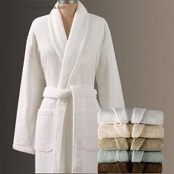 Blanc chaud Shenone vendre unisexe Hôtel 100% coton Terry peignoir de bain