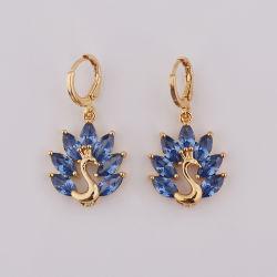 Chute de luxe de gros Earring Crystal 18K plaqué or Bijoux pour femmes