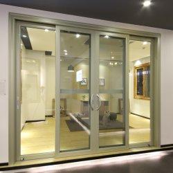 Yikaのテラスのドアの三倍の柵の蚊帳が付いているアルミニウム二重緩和されたガラスの引き戸