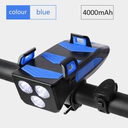 自転車の軽い携帯電話のStanderの乗馬のヘッドライトの角のバイクライト多機能のサイクルライトのためにセットされる携帯用電力源