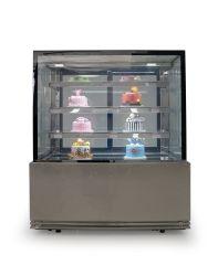 0.9/1/1.2/1.5/1.8/2メートルおよび3つの棚が付いている正方形のガラスケーキの表示カウンター