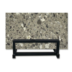 台所カウンタートップの単一の流しの浴室の虚栄心の質Backsplashのための灰色の人工的な水晶石