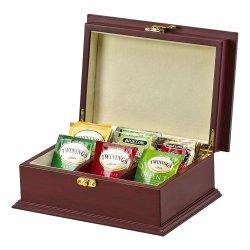 受諾可能な木の茶ボックス8コンパートメントチェリーのカシの穀物のベニヤの茶オルガナイザーのサンプル等級