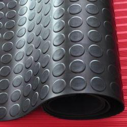 反スリップの硬貨のヤナギはパターンPVCにガレージの研修会のフロアーリングのマットのためのゴム製マットを去る