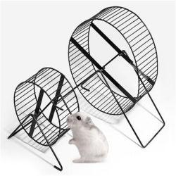 Socle en acier inoxydable de petits animaux de la conception de l'exécution automatique de l'exercice Pet Toy roue de hamster