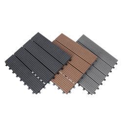 방수, 모든 방풍성 WPC 솔리드 그루브 플라스틱 복합재 바닥 나무 데크 플라스틱 타일 실외 WPC DIY 타일