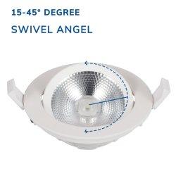 Caja de luz de color blanco, el uso de techo ajustable de 18W Downlight LED Empotrables Mini antirreflectante