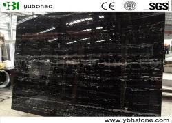 China-silberner Drache-preiswerte schwarze Marmorplatten für KücheCountertop/Badezimmer-Eitelkeits-Oberseite