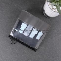Мягкая виниловая пленка ПВХ EVA поездки пакет одежды для хранения Zip ползунок с кольцом потяните (jp-E010)