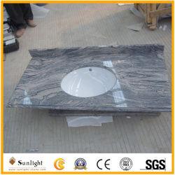 China cinzento/preto/castanho escuro bancadas de granito/Vaidade Tops para banheiro