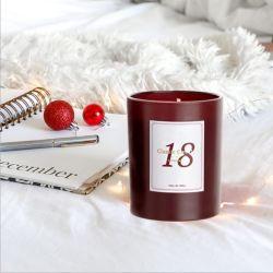 De lujo hermoso cristal personalizado velas Tealight en frasco de vidrio con la etiqueta