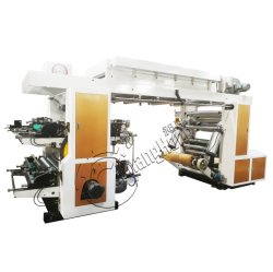 Tipo stampatrice flessografica della pila di 4 colori di alta velocità/di Flexo non tessuta