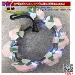 LED acenda Crown Flower Cabelo Band Garland Festas de Casamento decoração (P2037)
