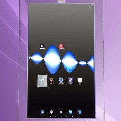 Segnale numerico laterale trasparente di OLED doppio che fa pubblicità al chiosco diritto del pavimento dello schermo di visualizzazione
