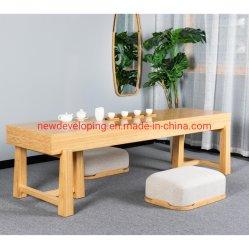 일본식 라미네이트 대나무 긴 4인용 커피차 테이블