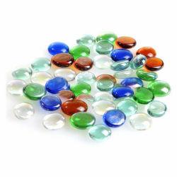 着色されたガラス玉の平らなビードの石造りの魚飼育用の水槽の装飾の海藻景色のガラス玉