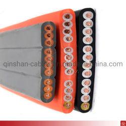 كبل سلك نحاسي كهربائي مسطح مطاطي مسطح 10core 12core 0.75 مم 1.5 مم أجزاء كابل الرافعة