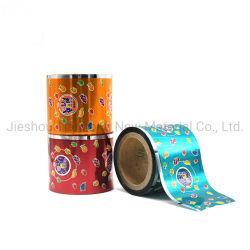 Impressão personalizada metalizados PVC/Pet Candy Wrap Filme de torção do material de embalagem