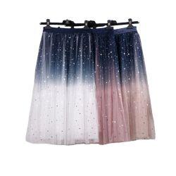 Neuer Tulle Tulle Tulle Tulle Rock für Damen mit Gradient Mesh, eleganter Pailletten-Lagenrock mit mittellanger Party Ball-Mesh-Optik