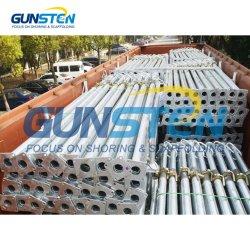 調節可能な支注のポストの鋼鉄によって電流を通される頑丈な閉めるAcrowジャックの足場の支柱の建築材料の構築の国際規格