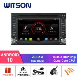 Witson Quad-Core Android 10 coche reproductor de DVD de la Hyundai Santa (1999-2005) construido en función DVR
