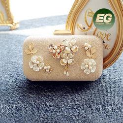 Caja de los embragues de boda por la noche de moda Bolso Bolso de flores de perlas con reborde de la bolsa de embrague EB881