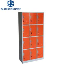 Cheap 12 Porte armoire en acier de métal Iron Armoire de stockage de la penderie salle de gym Locker