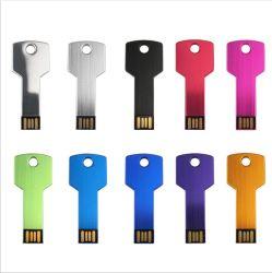 Unidade Flash USB Chave de metal Brindes Promocionais chave Pen Drive USB Flash Drive USB de memória para o logotipo personalizado